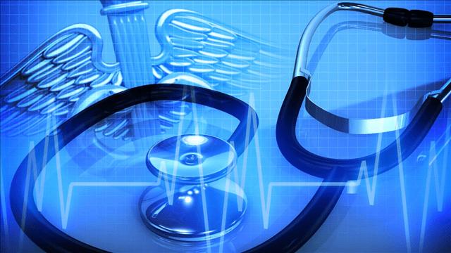 Medical logo with stethoscope