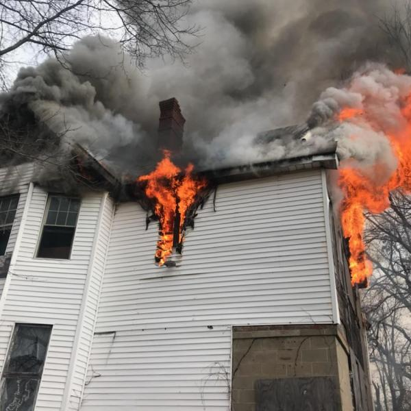 2 juveniles arrested on charges of arson, burglary.