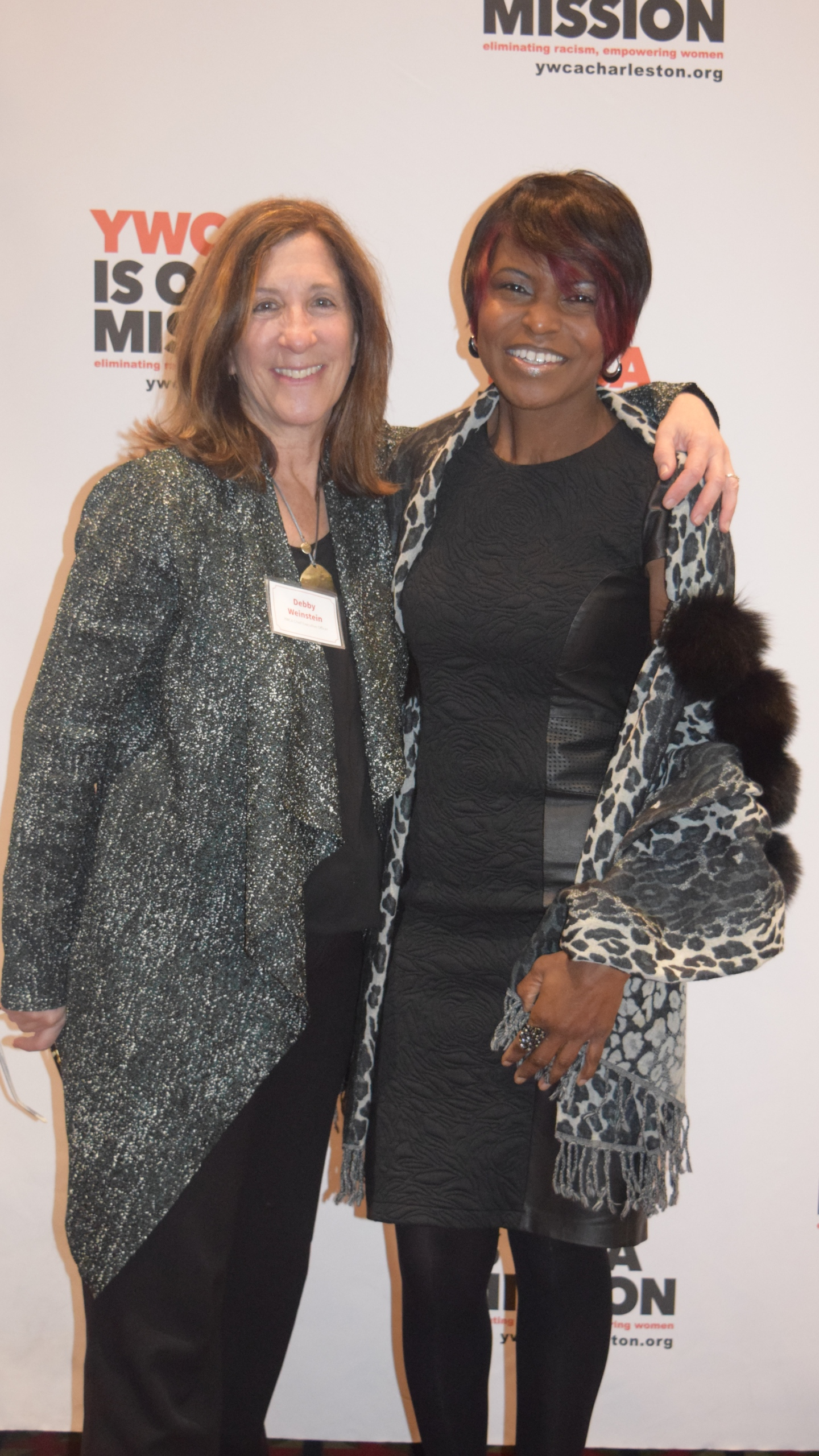 Sharon with YWCA CEO Debby Weinstein