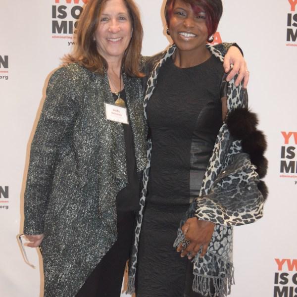 Sharon with YWCA CEO Debby Weinstein