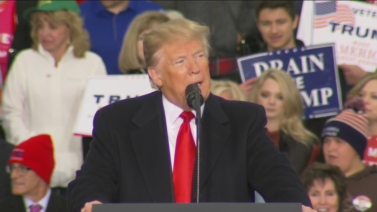 President Trump Visits Huntington For Rally