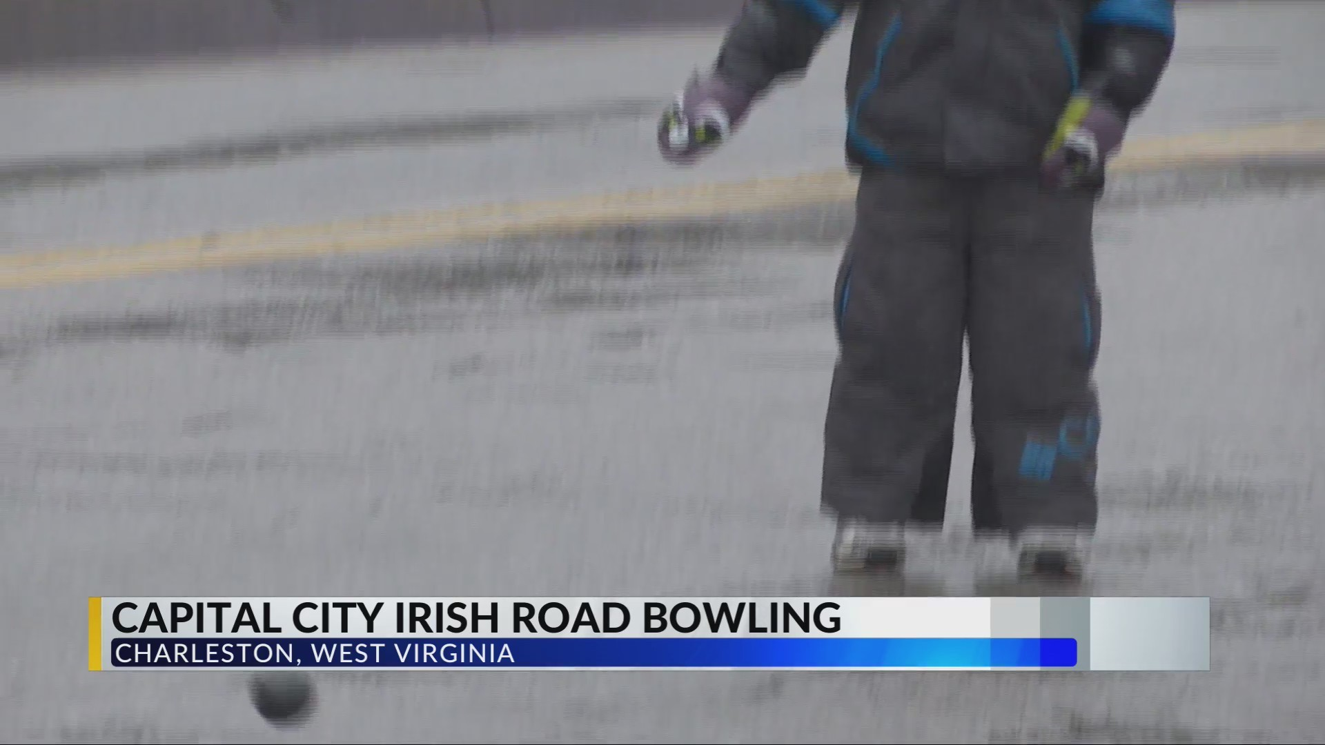 People in the Capitol City get out for some Irish Road Bowling