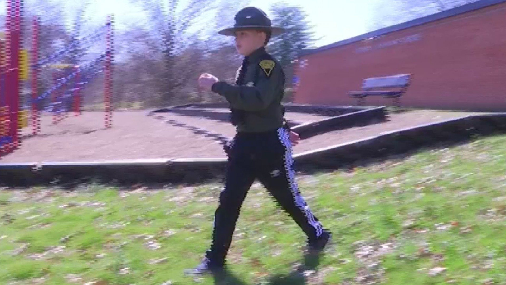 Student, 9, finds hero in South Charleston Police Officer recovering from rare cancer