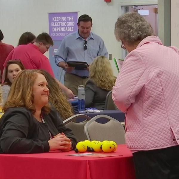 Job fair underway in downtown Huntington