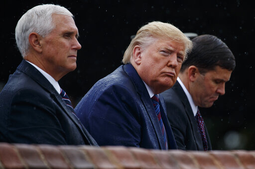 Donald Trump, Mike Pence, Mark Esper