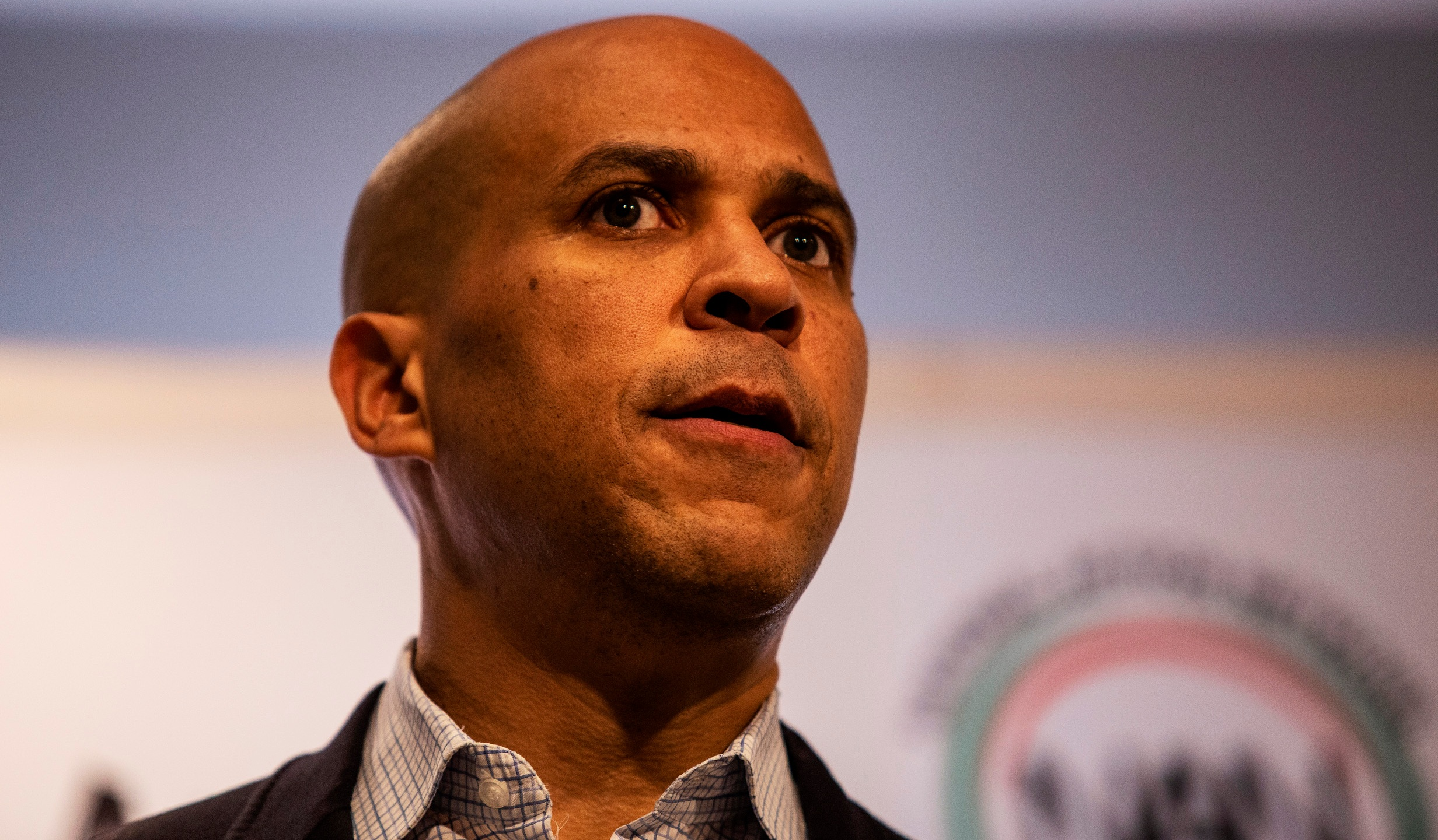 Cory Booker, Booker ingnites audience at Sharpton event in Atlanta