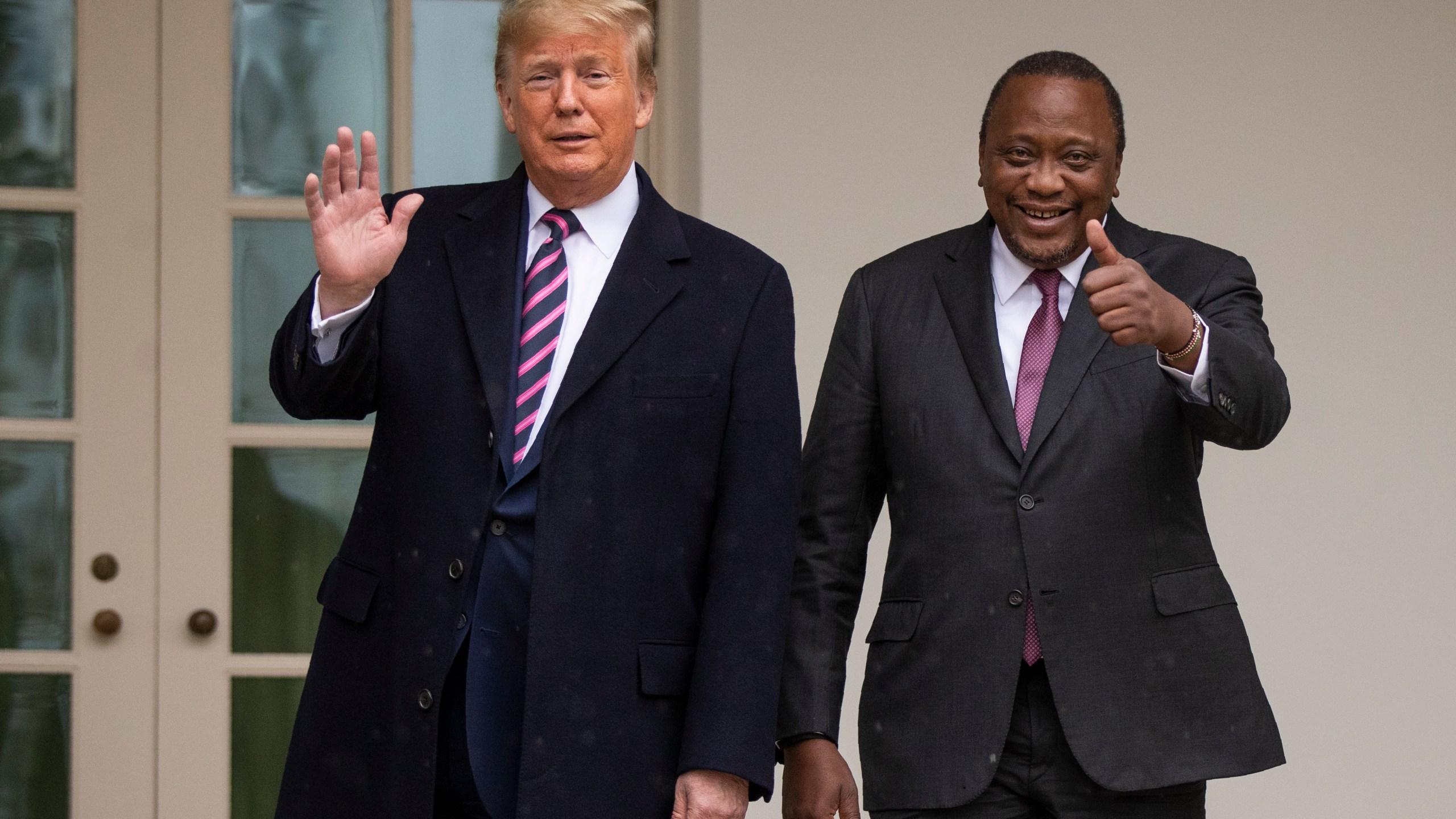 Donald Trump, Uhuru Kenyatta