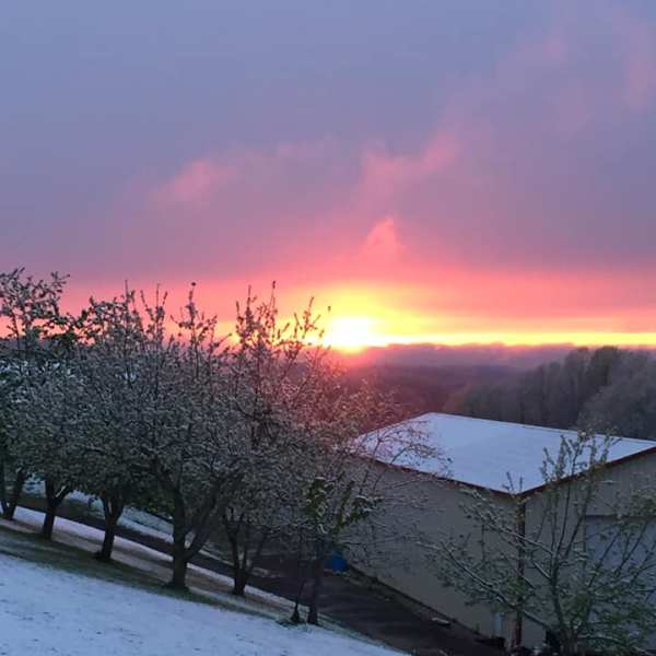Snowy sunset Roane Countty