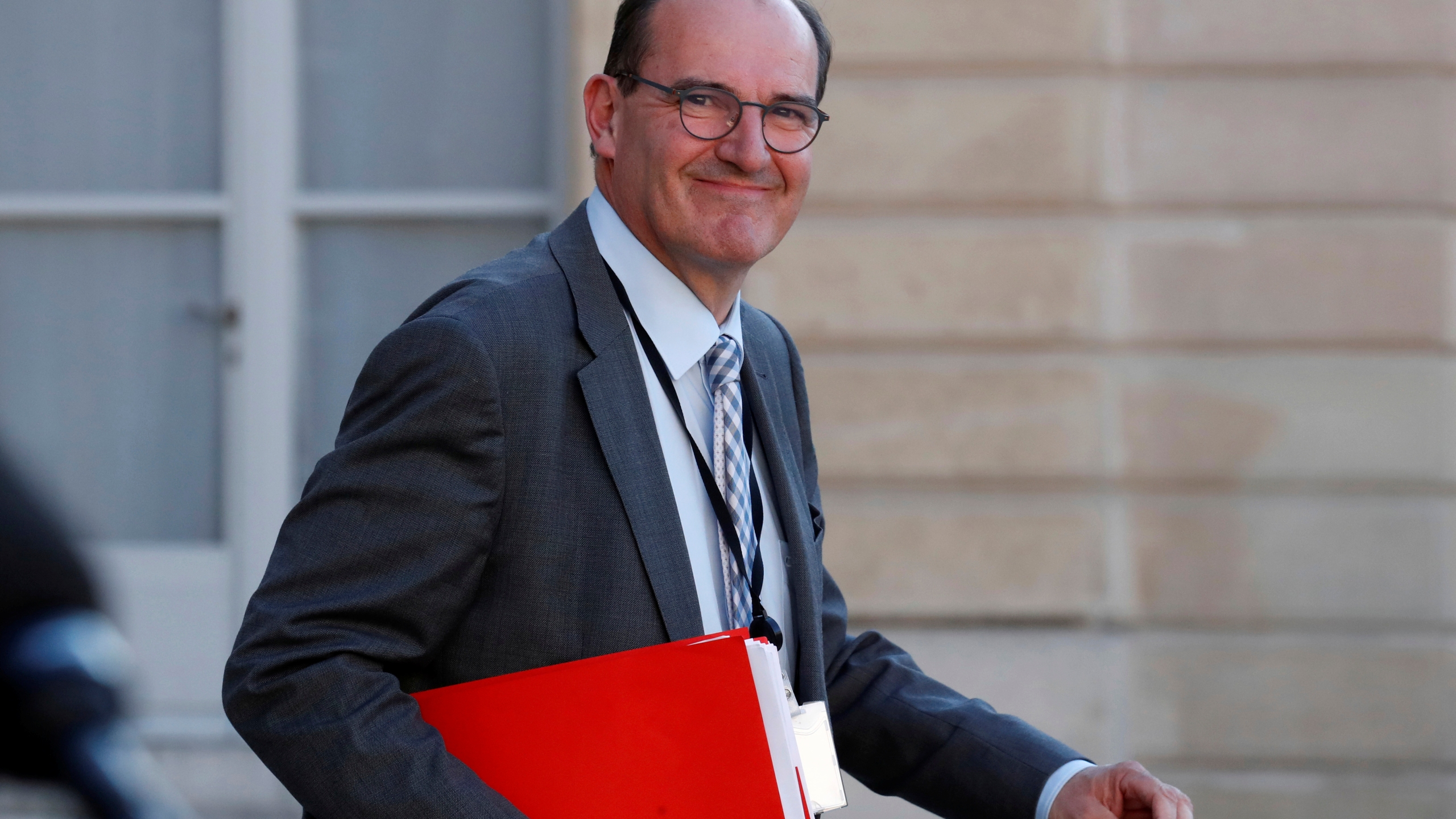 """French government """"deconfinement"""" coordinator Jean Castex leaves the Elysee Palace in Paris"""