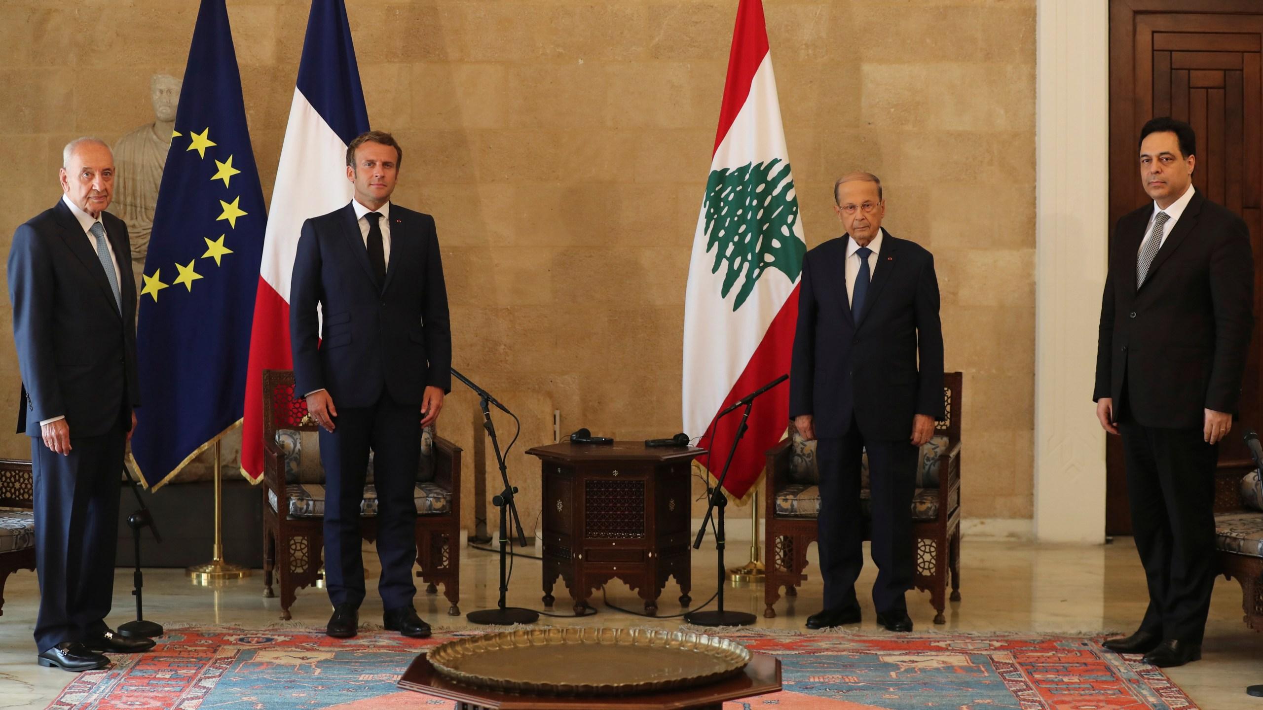 Emmanuel Macron, Michel Aoun