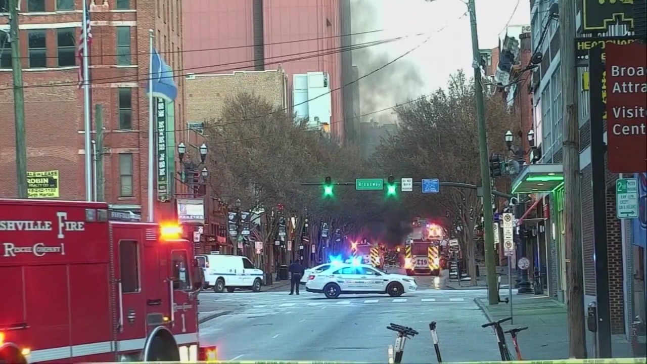 Local firefighters react to Nashville explosion